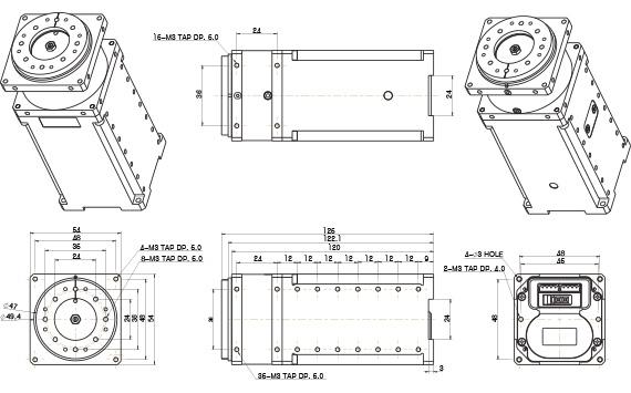 H54-200-S500-R ابعاد
