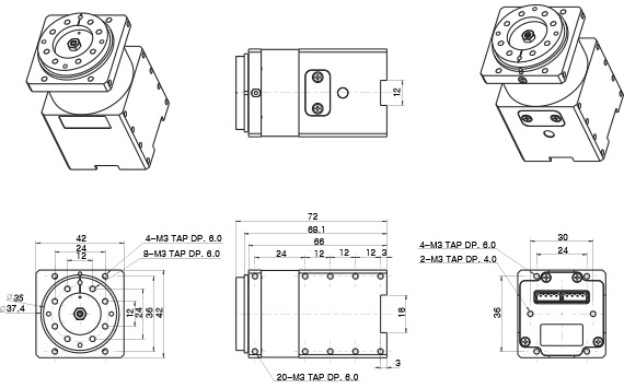 H54-100-S500-R ابعاد