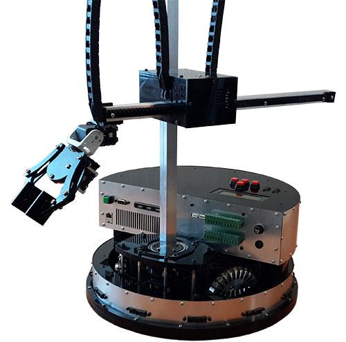 پلتفورم روبات متحرک با بازوی استوانهای