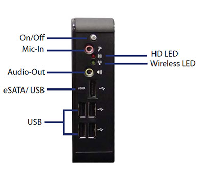 QutePC-3001 نمای جلو