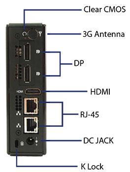 QutePC-4001 نمای پشت
