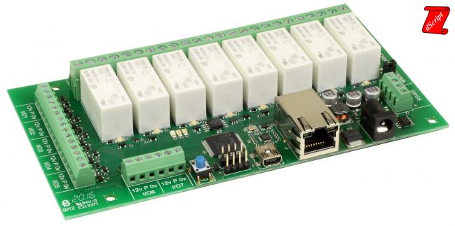 ماژول رله ۴ تایی با ۸ ورودی / خروجی دیجیتال