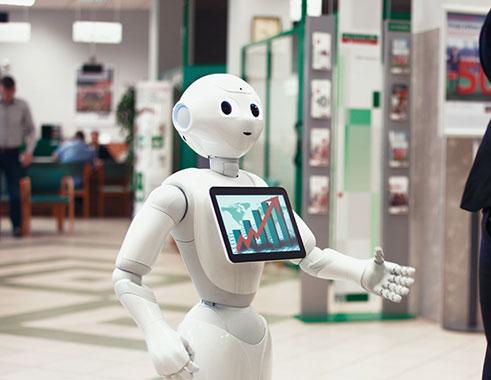 ربات هوشمند پپر در بانک