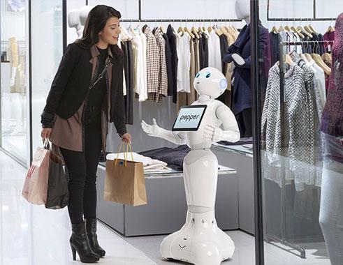 ربات پپر در فروشگاه