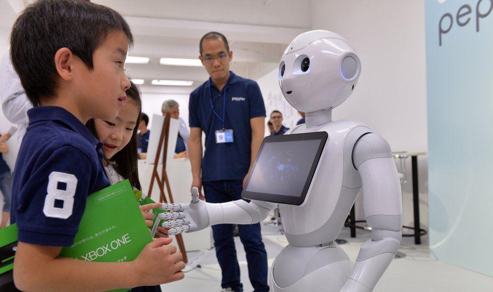 خوش آمدگویی و استقبال ربات پپر