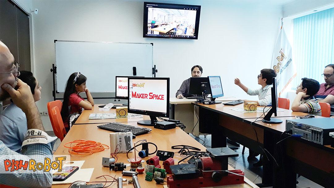 makerspace, کارگاه رباتیک و آشنایی با مفاهیم استیم